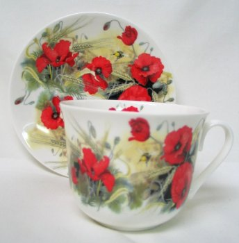"Porcelaine anglaise ""coquelicot"""