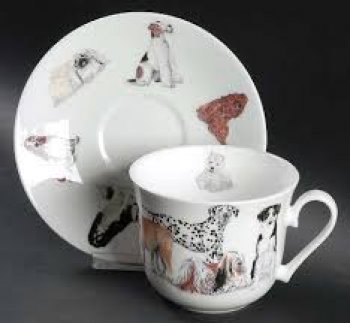 Porcelaine anglaise chien